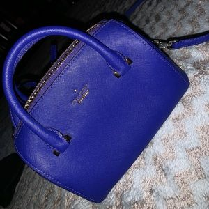 Kate spade small cobalt blue cross body bag